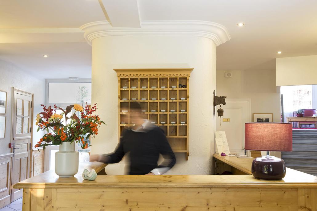 Les Mésanges - Accueil de l'Hôtel Restaurant