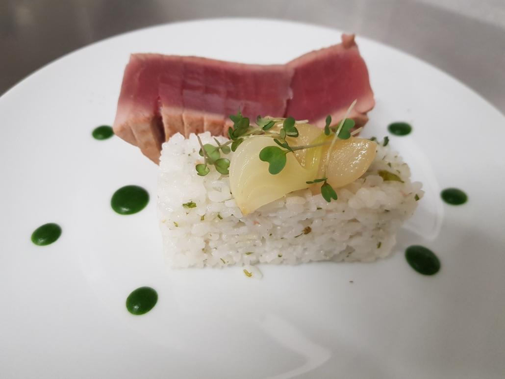Restaurant - Plat - Le thon et son riz japonais