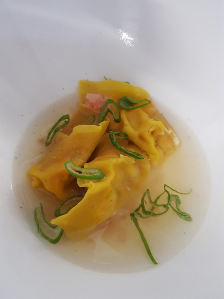 Restaurant - Plat - La Raviole à la Truite