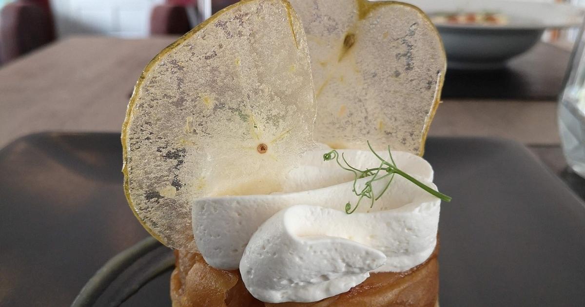 Restaurant - La pomme caramélisée façon tatin